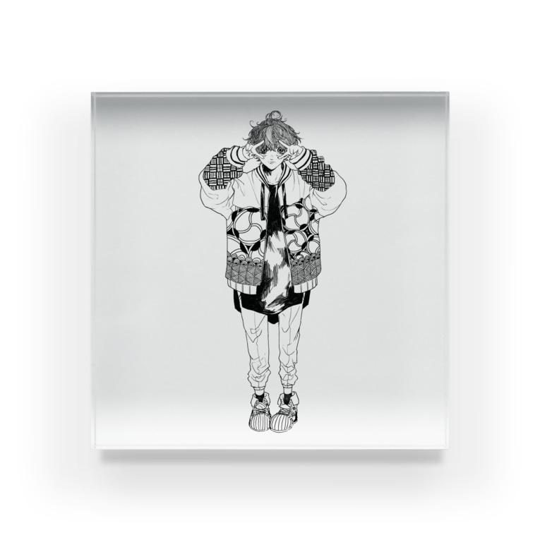-Hyuga-のぴーす(色なし) Acrylic Block