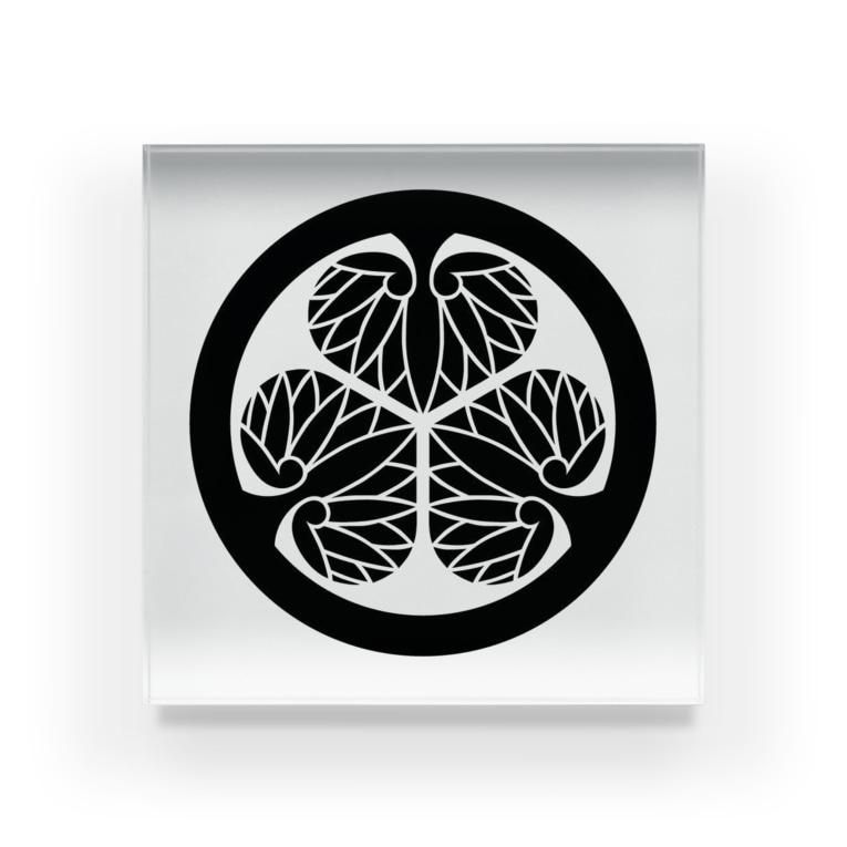 tosibouの家紋(徳川家 葵) Acrylic Block