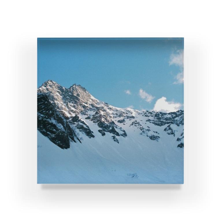 meronsodabonbonの雪の峰 Acrylic Block
