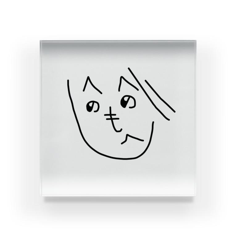 nanapのへのへのもへじちゃん Acrylic Block