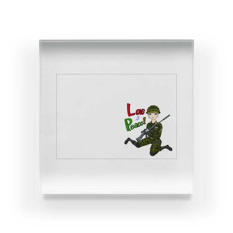 セラムのLove&Peace! Acrylic Block