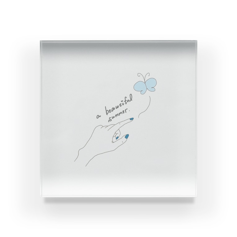 Cloudy_Gleamのa beautiful summer. Acrylic Block