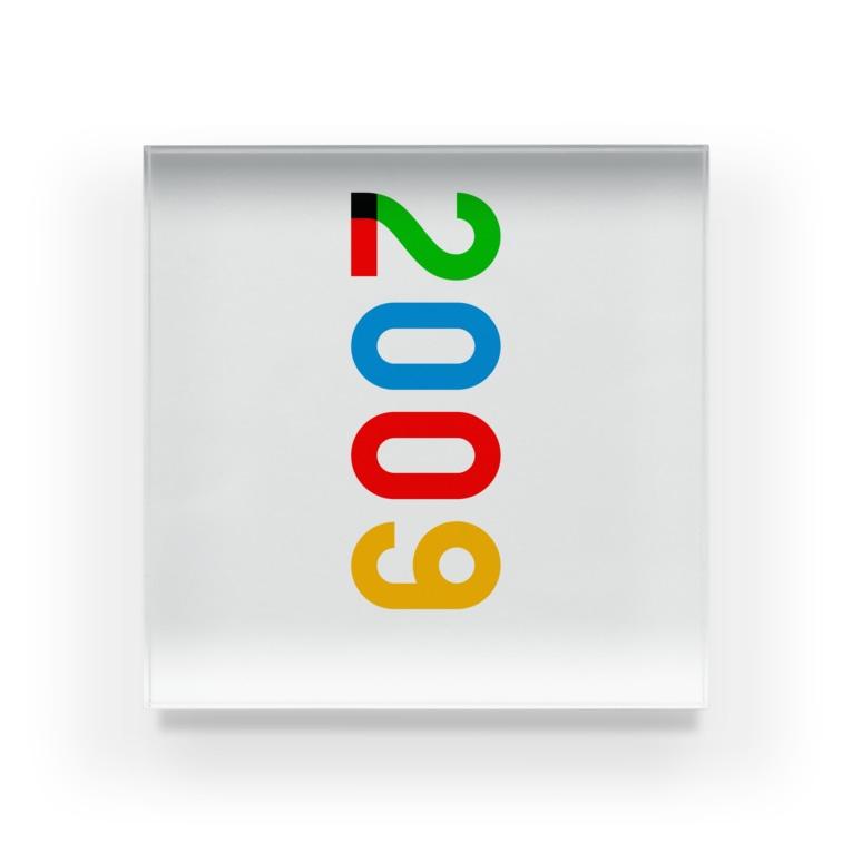 marikiroの2009_西暦 Acrylic Block