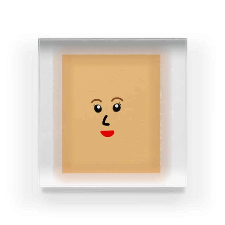 p-nekoの湿布のようなパン Acrylic Block