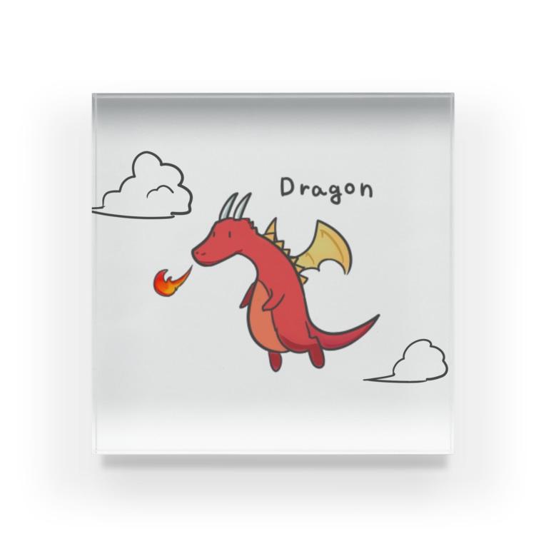 Oitan's SHOPのFire Dragon  Acrylic Block