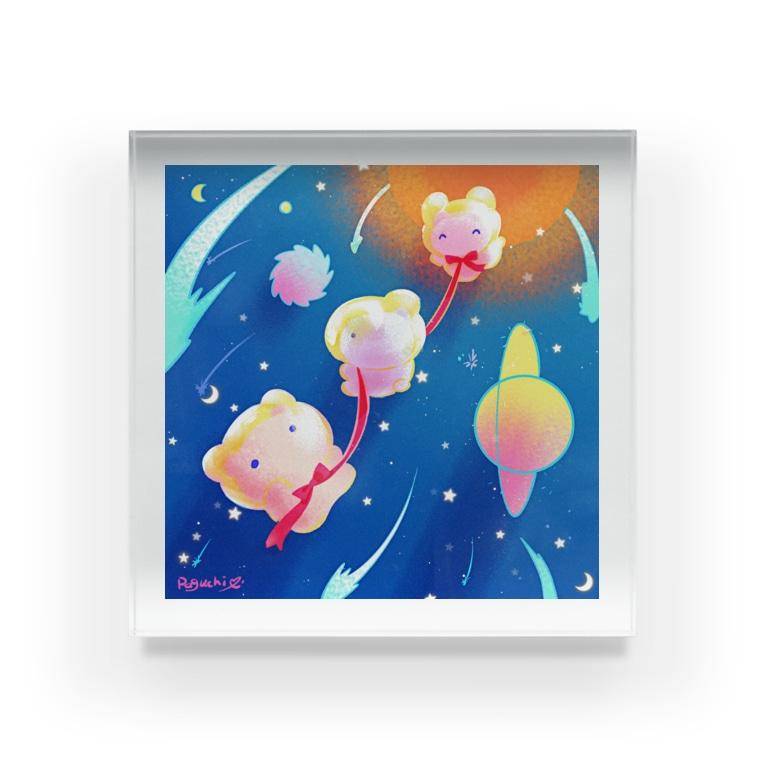 たんぽぽ帝国(おみやげ屋さん)の宇宙遊泳ぷにぷに Acrylic Block