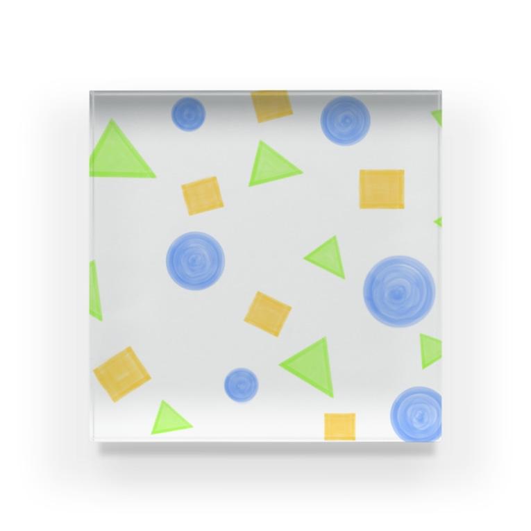 Lily birdの丸・三角・四角② Acrylic Block