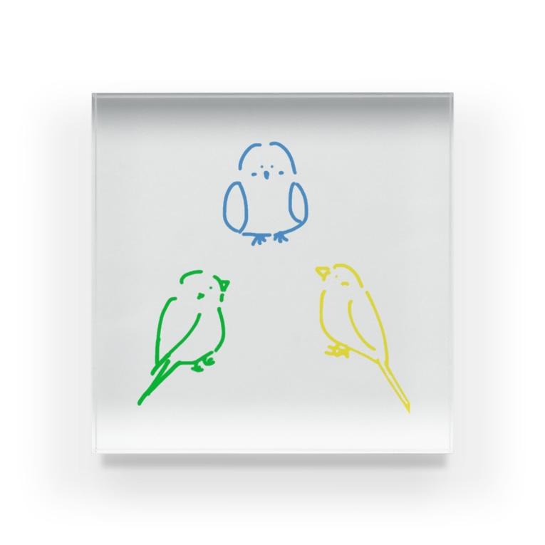 インコアンド の三者会談 Acrylic Block
