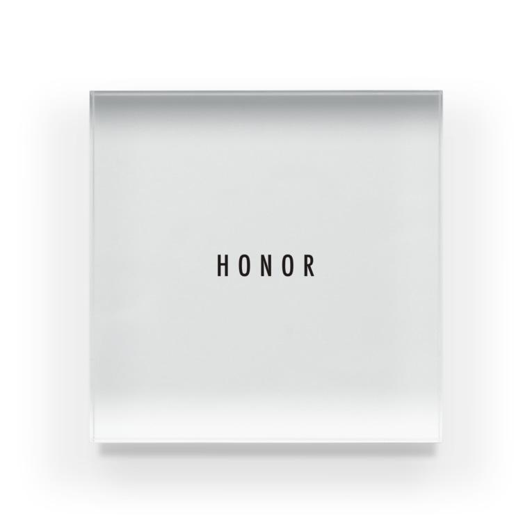 小野商店のHONORオフィシャルグッズ Acrylic Block
