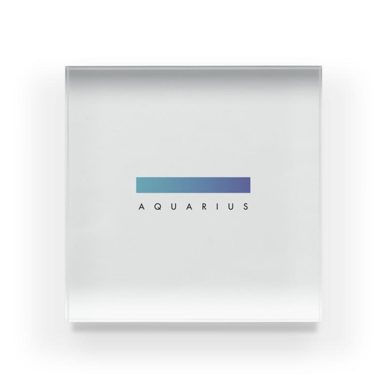 iro! / 采井いろの【星座グラデ】水瓶座/Aquarius Acrylic Block