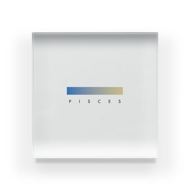 iro! / 采井いろの【星座グラデ】魚座/Pisces Acrylic Block