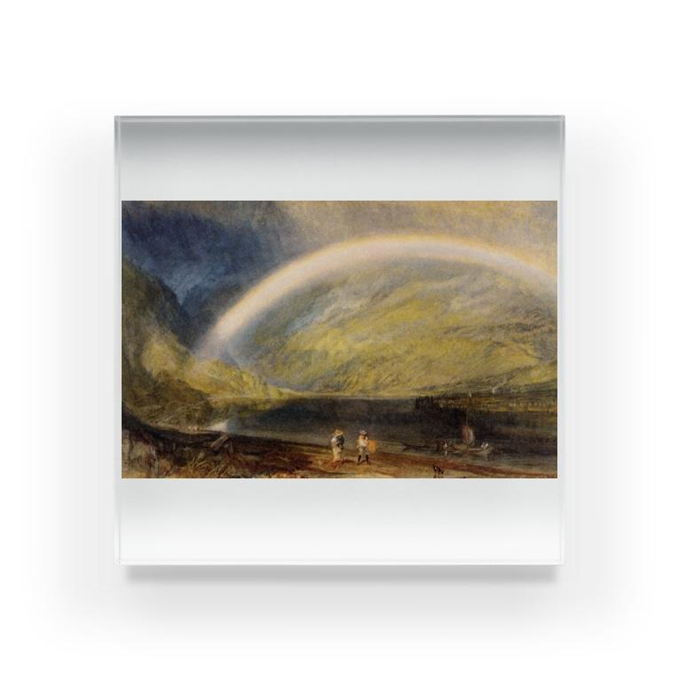 世界の絵画アートグッズのウィリアム・ターナー《虹》 Acrylic Block