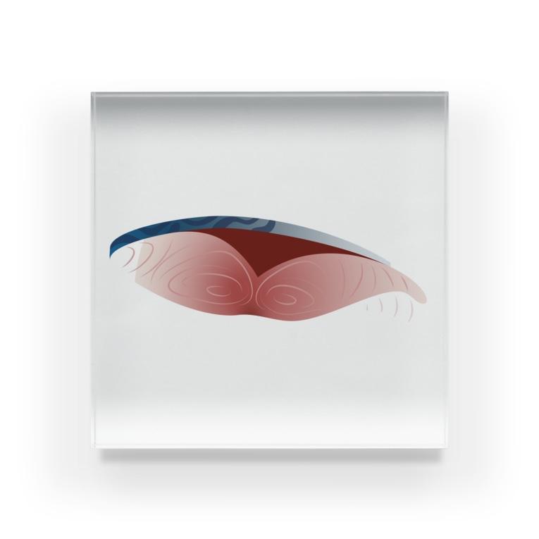 イラストレーターみやもとかずみのオリジナルグッズ通販 ∞ SUZURI(スズリ)の鯖の切り身 Acrylic Block