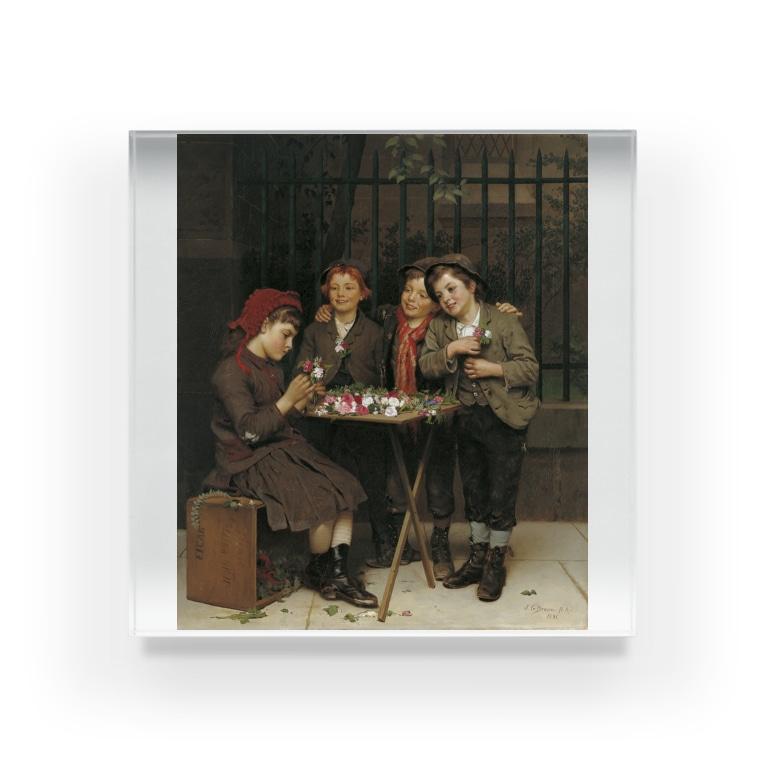 世界の絵画アートグッズのジョン・ジョージ・ブラウン《タフな顧客》 Acrylic Block