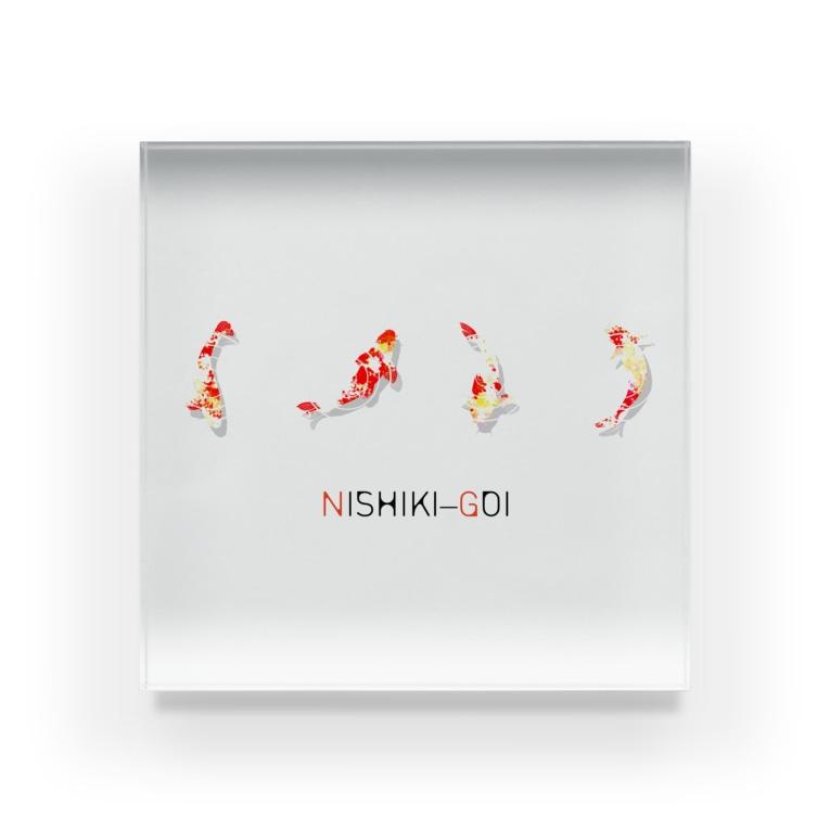 和の色彩 -wa_no_iroiro-のNISHIKI-GOI Acrylic Block