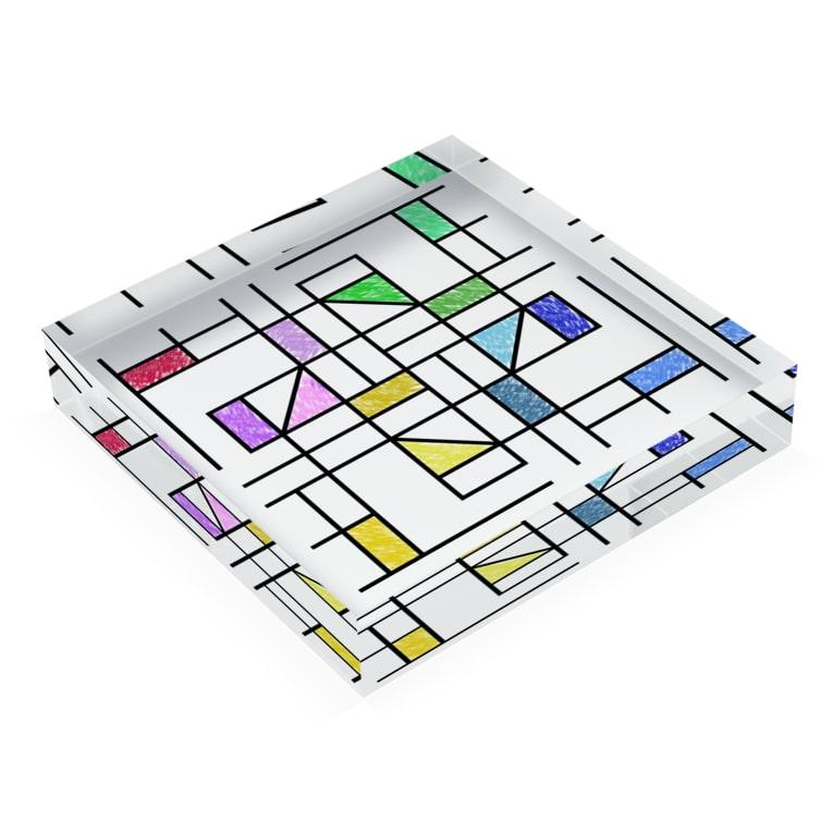ムハンマド@石油王同好会の石油王 Acrylic Blockの平置き