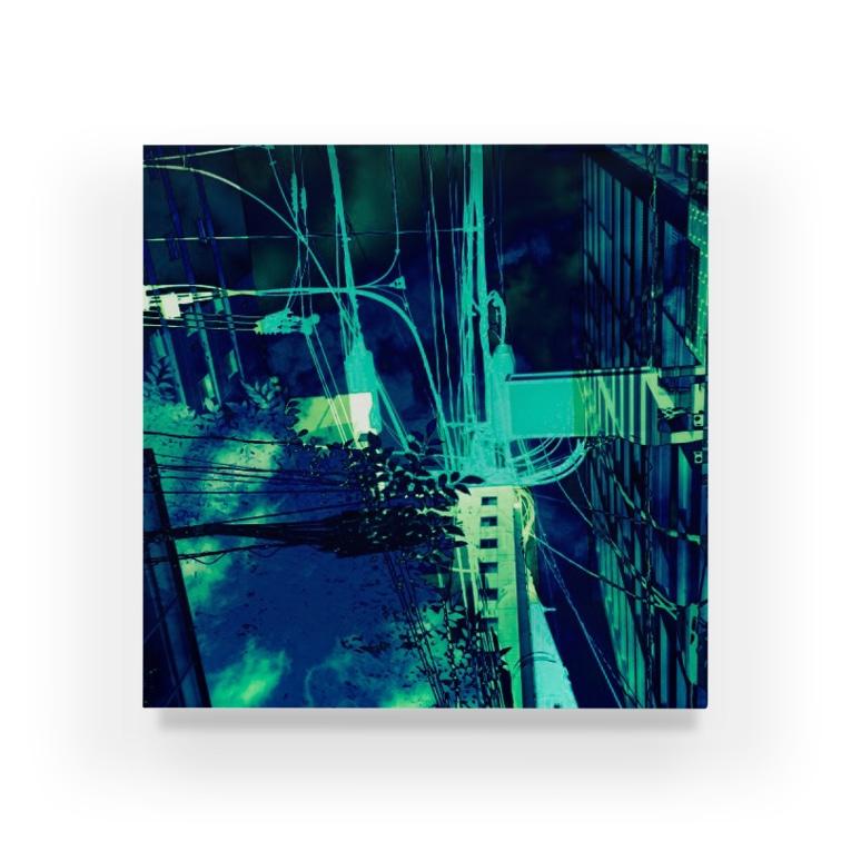 motchamのLAYER-GREEN (imaginary night) Acrylic Block