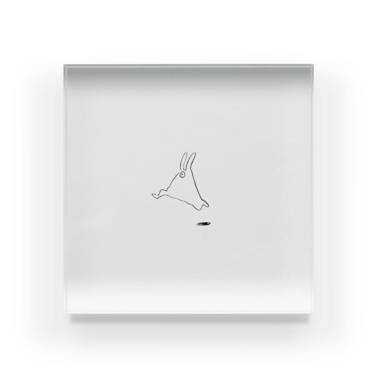 awaのusamo_pyon Acrylic Block