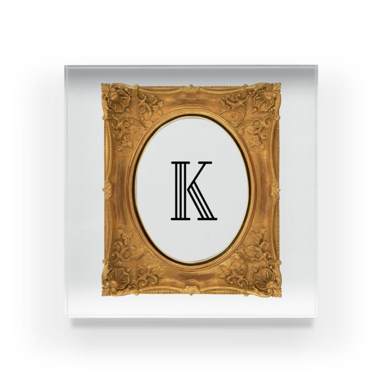 krakatukのkrakatuk額入イニシャル'K' Acrylic Block