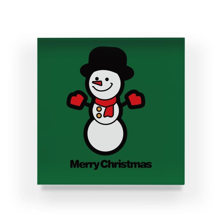 NICE ONEのクリスマスオーナメント スノーマン Acrylic Block
