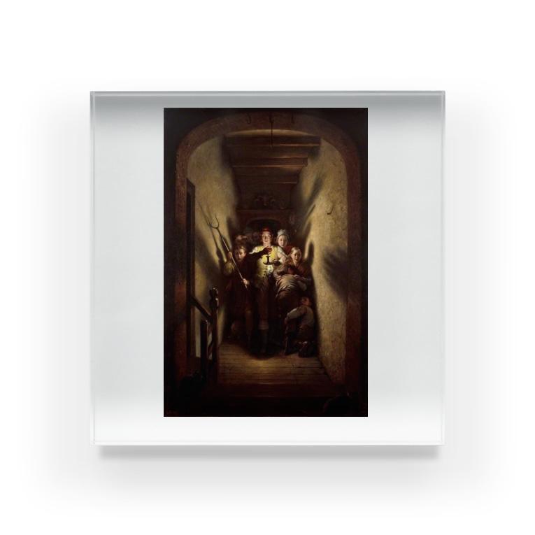 世界の絵画アートグッズのチャールズ・ウェスト・コープ 《夜のアラーム、前進!》 Acrylic Block