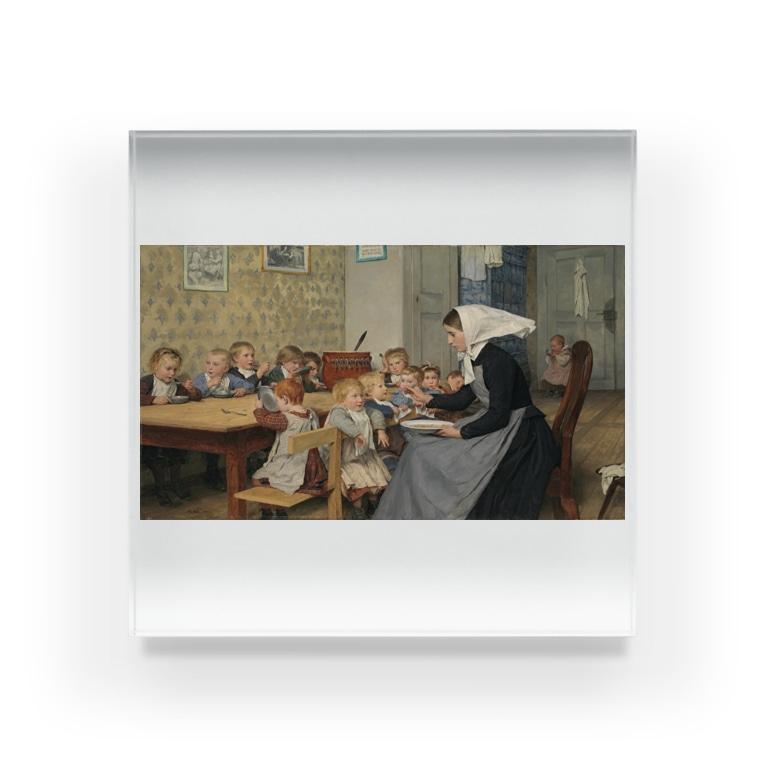 世界の絵画アートグッズのアルベール・アンカー 《保育所 1 》 Acrylic Block