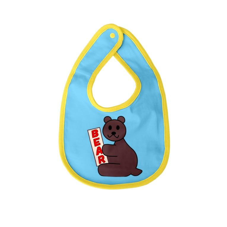Shih-andKisyouのBEAR-シハンドキショウ Baby bibs