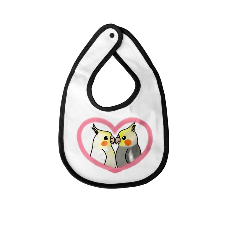 Lily birdのぴったりオカメインコず Baby bibs