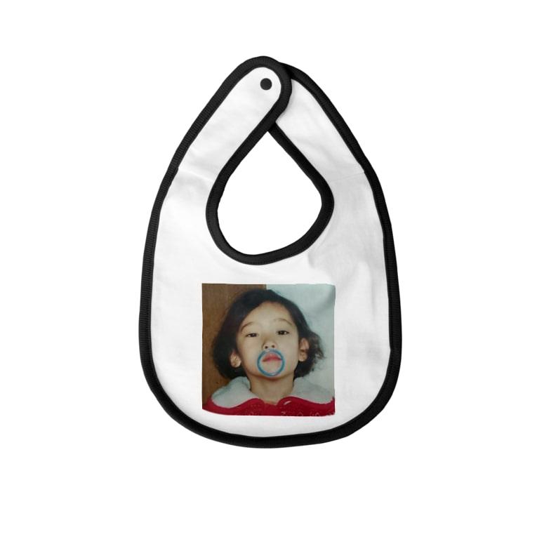 小島ふかせ画伯のボッタクリ商売の小島ふかせの幼少期です。 Baby Bib