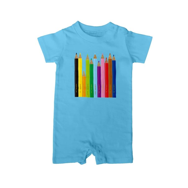 gorozomachine_storeの色鉛筆 Baby Rompers
