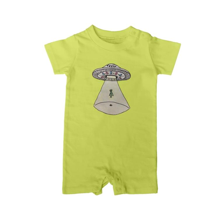 SA-ULEENUFO🛸のUFOから宇宙人 Baby Rompers