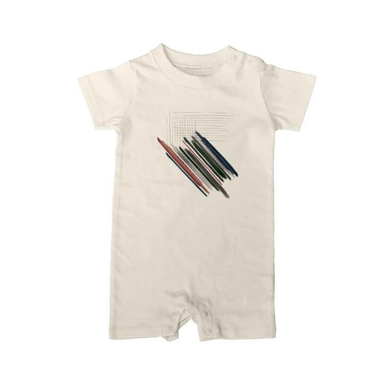 SON.S  - ソンス - 図案作家 -の線分 Baby Rompers