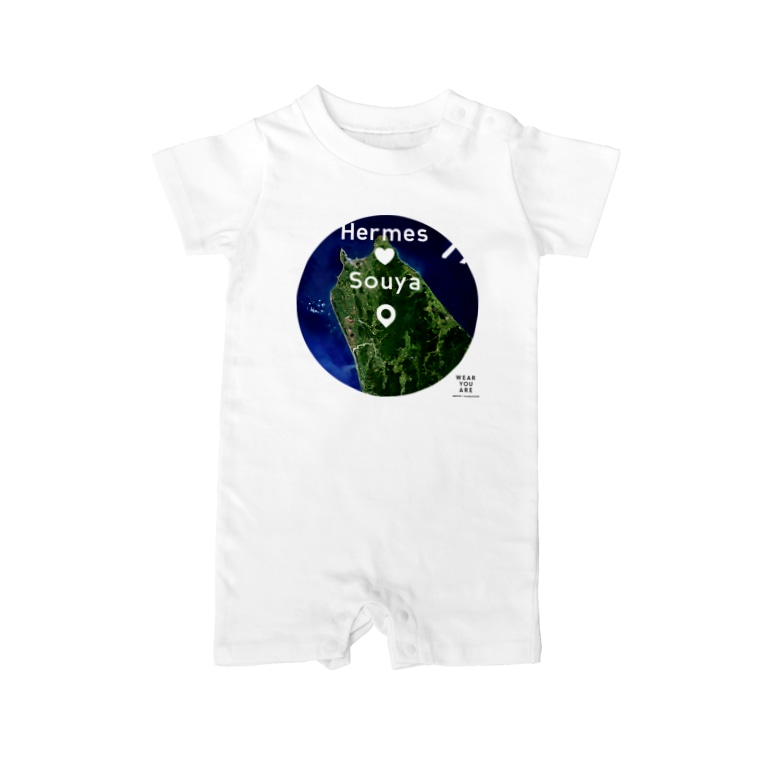 WEAR YOU AREの北海道 天塩郡 ベイビーロンパース Baby rompers