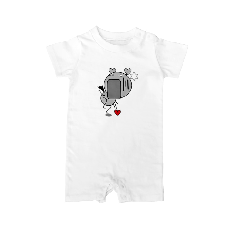 rocoのFUNNY FRIENDS(BABY) おどろき Baby rompers