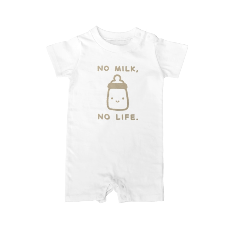 あわゆきのNO MILK, NO LIFE. Baby rompers
