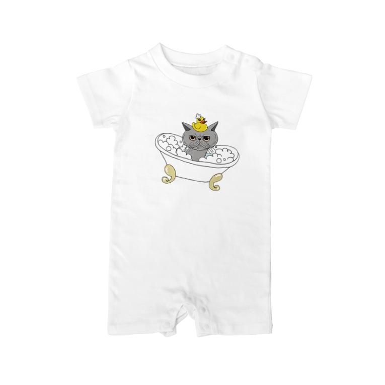 OGNdesignの猫 ねこ NO.33 Baby rompers