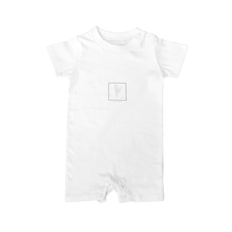 rilybiiの線画のチューリップ🌷 Baby rompers