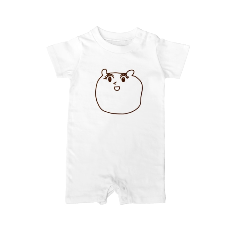 asnmsmsのくま Baby rompers