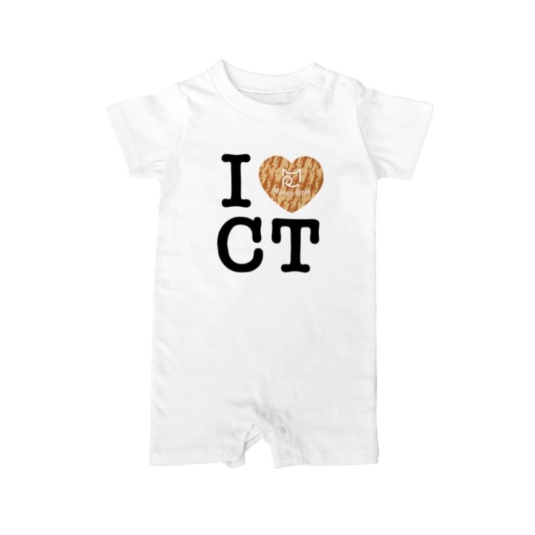 SHOP W SUZURI店のI ♥ Cha Tora ベイビーロンパース Baby rompers