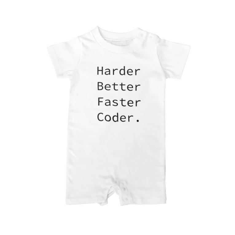 くろふね@PokemonGOの日本代表のHarder Better Faster Coder. (Source Code Pro ver.) Baby rompers
