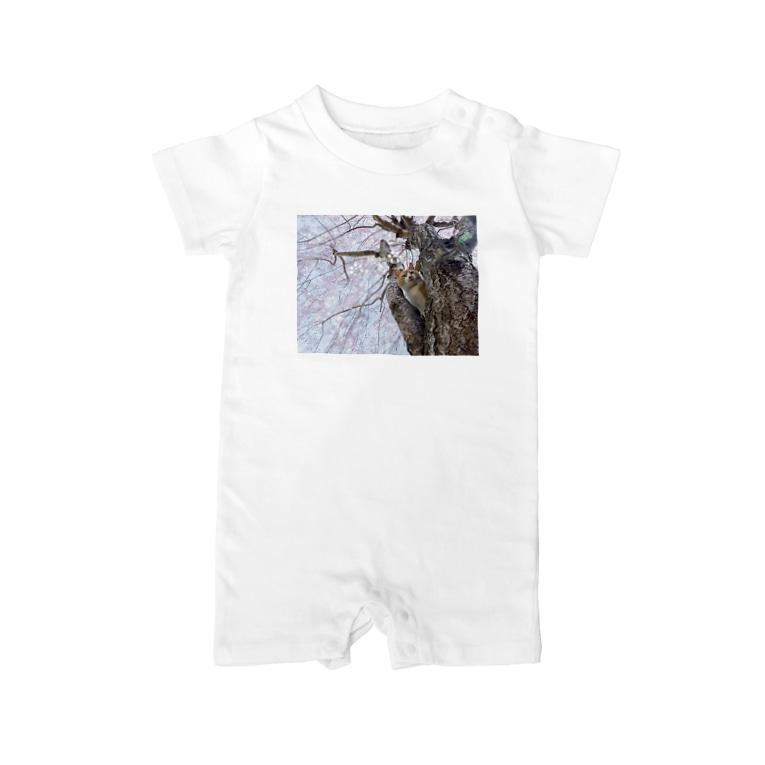 末吉 弦太の僕らの居場所は言わにゃいでTシャツ01 Baby rompers