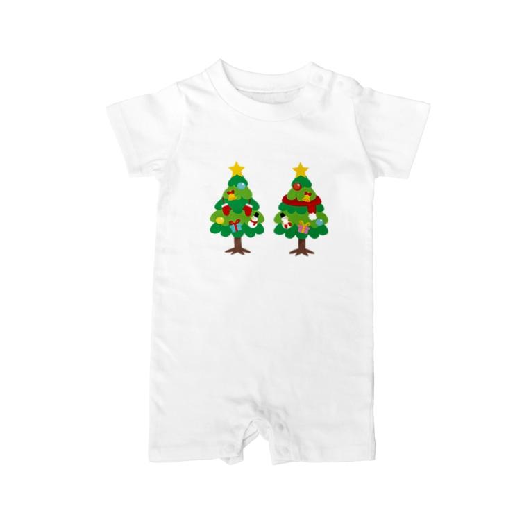 *suzuriDeMONYAAT*のCT88 林さんのクリスマスB Baby Rompers