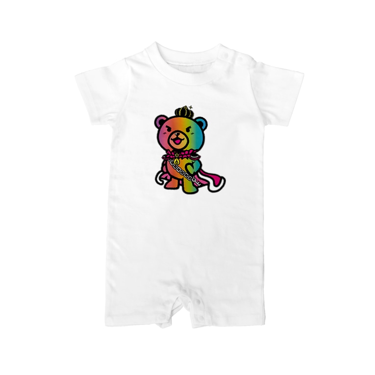 BASE forのBASEfor BEAR Rainbow Baby rompers