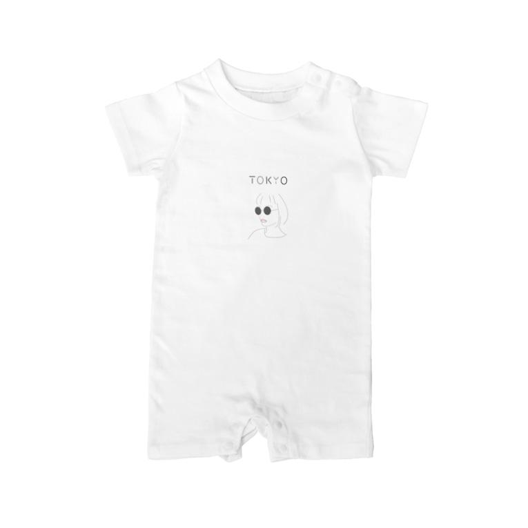 Hiroko💐のテクノなTOKYOガール Baby Rompers