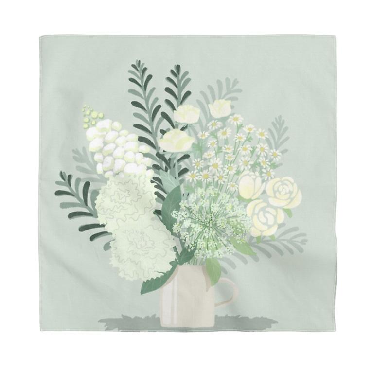 memo-s notesのwhite flower bouquet  Bandana