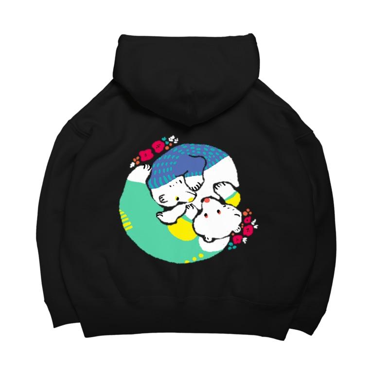 mya-mya=MIYA JUNKO's shop 02のクマとクマでぐるぐる Big Hoodies