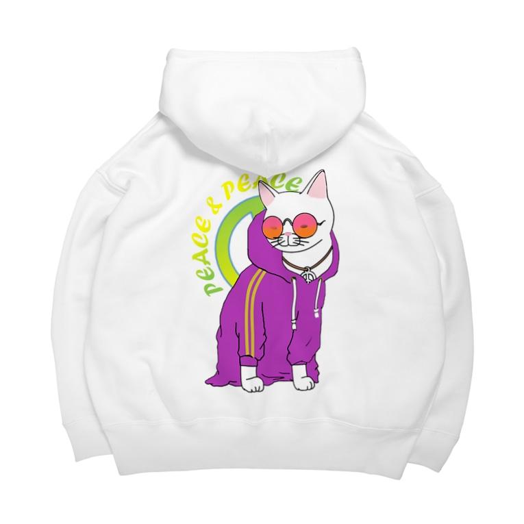 シロクマ商店の着せられネコ Big Hoodies
