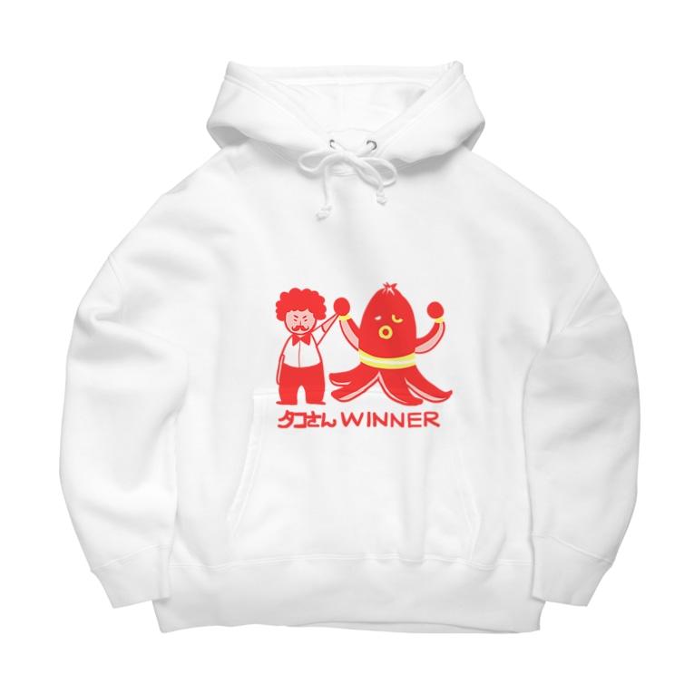 おもしろTシャツ屋(oko)jのタコさんWINNER Big Hoodies