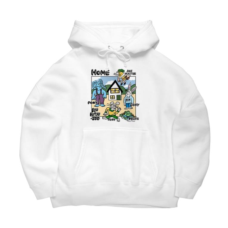 THE DOUBUTSU-ZOO SHOPのHOME4c Big Hoodies