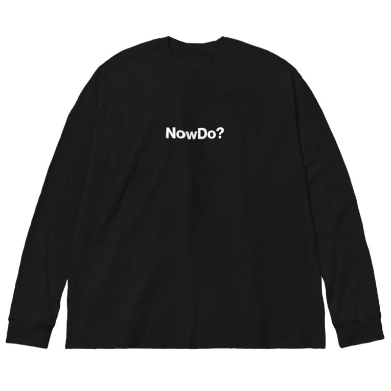 NowDo, Inc.のNowDo? BLACK Big silhouette long sleeve T-shirts